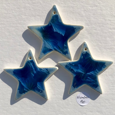 Collection of Three Stars with Sea Star Impression #90