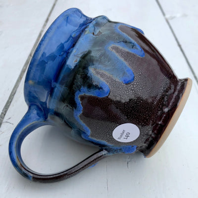 Northern Night Mug, Blue Rim # 140