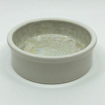 Flat Bottomed White Bowl #f123