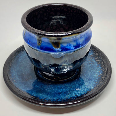 Northern Night Latte Bowl & Saucer #b182