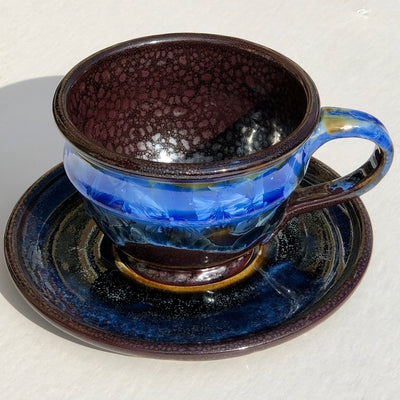 Northern Night Mug and Saucer Set #f20
