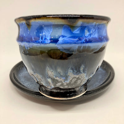 Northern Night Latte Bowl & Saucer #b183