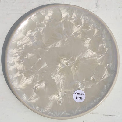 White Crystalline Bread and Butter Plate #170