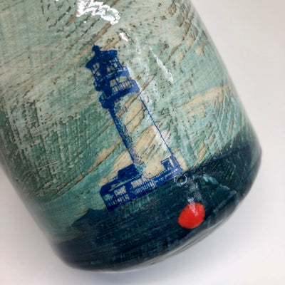 Small Tumbler with Lighthouse Decal #1347