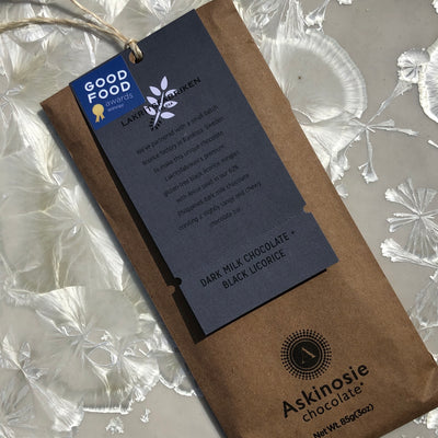 Askinosie Tanzania Dark Milk chocolate + black Licorice