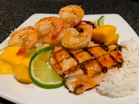 Grilled Chicken & Shrimp