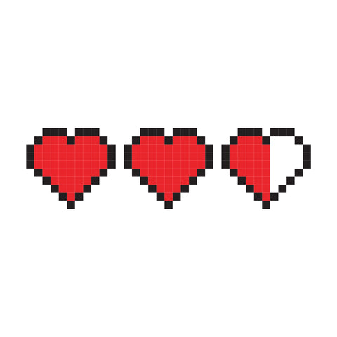 8-bit Love | Habitatt Supply Co | Finest Quality Designed Temporary Tattoos