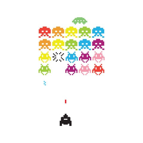 Space Invaders in Technicolour