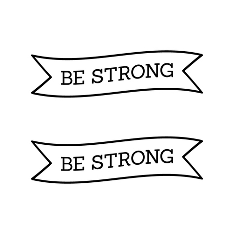 Be Strong Tattoo | Habitatt Supply Co | Finest Quality Designed Temporary Tattoos