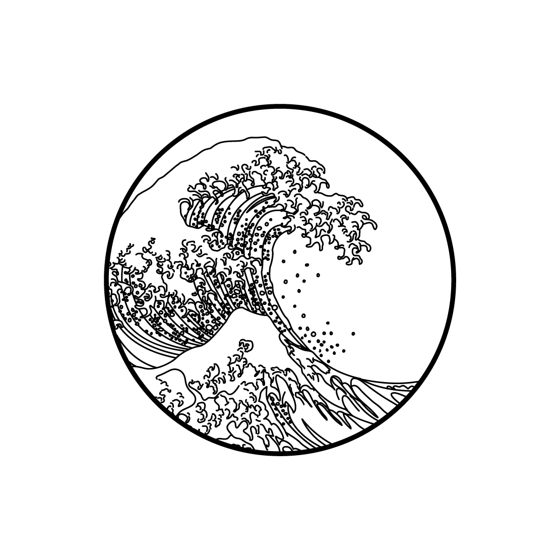 The great wave habitatt supply co for The great wave coloring page