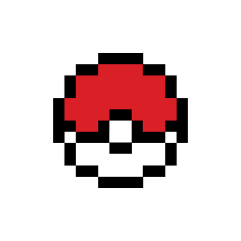 8-bit Pokeball | Habitatt Supply Co | Finest Quality Designed Temporary Tattoos