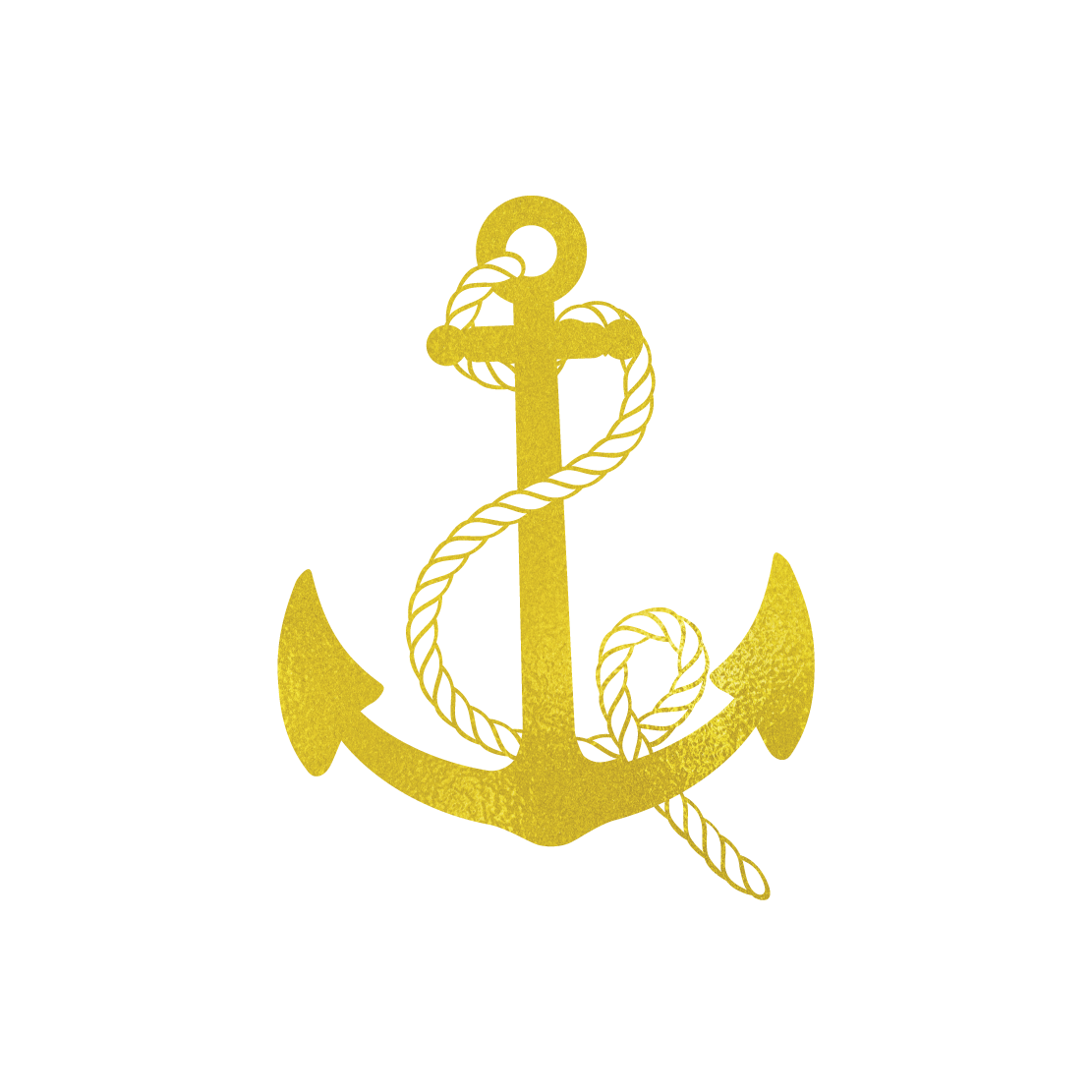 Metalic Gold Anchor Tattoo