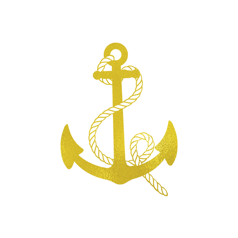 Metalic Gold Anchor Tattoo  | Habitatt Supply Co | Finest Quality Designed Temporary Tattoos