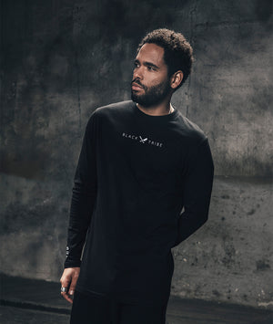 Black Tribe High Neck longsleeve by Distorted People