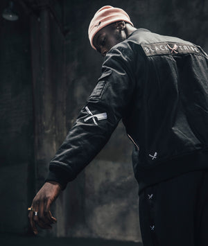 Black Tribe Patched Bomber jacket by Distorted People