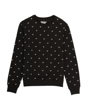 Allover Blades Crew Neck Sweater sweatshirt by Distorted People