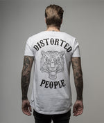 Cutted Neck Tiger long t-shirt by Distorted People