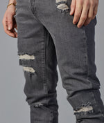 5-Pocket Slim Fit Jeans Distressed