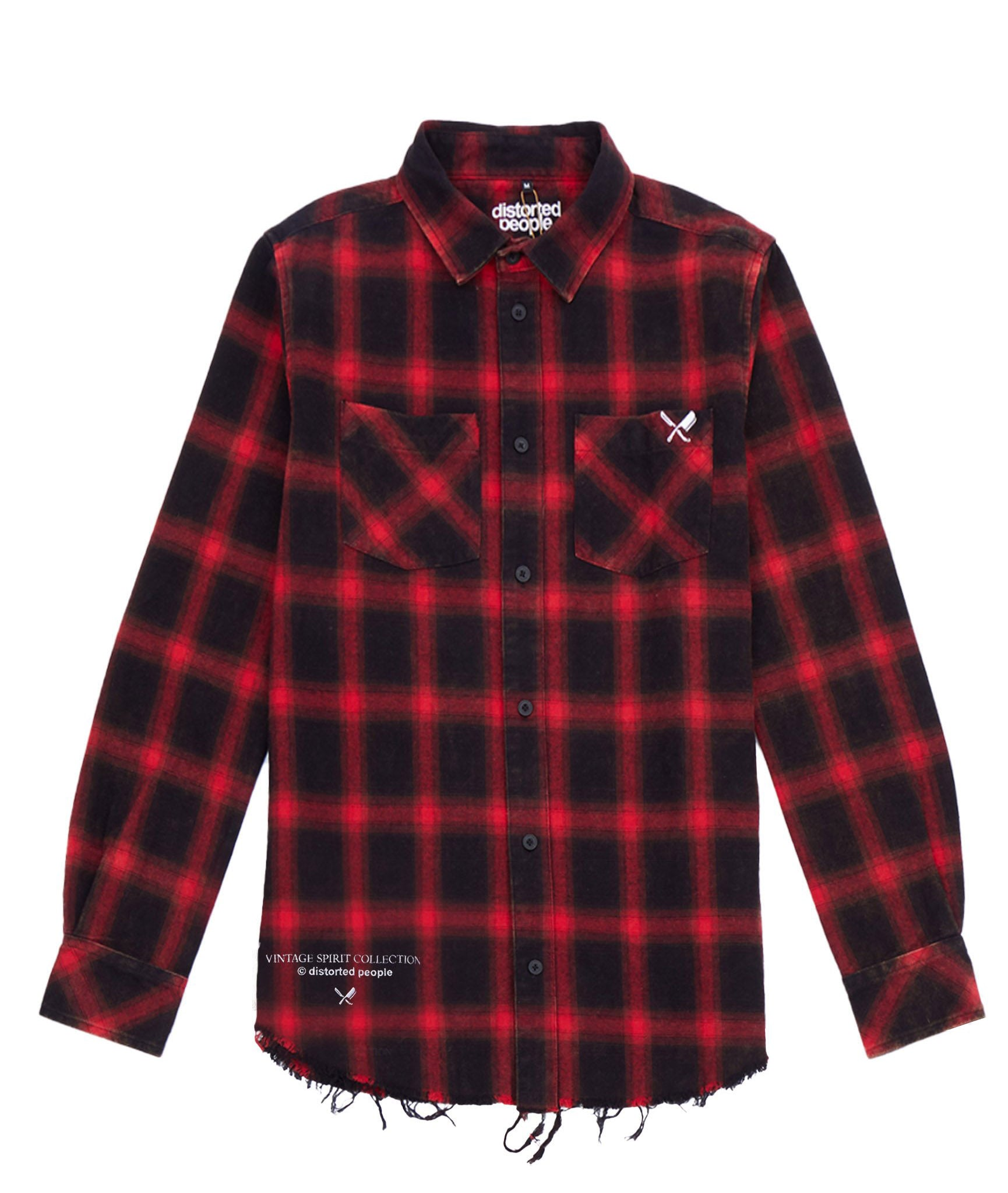 distorted people - Vintage Classic Flanell Longsleeve Shirt