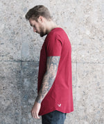 Cutted Neck long t-shirt by Distorted People
