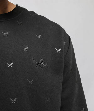 Decade Allover Crewneck Sweater sweatshirt by Distorted People