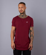 College Cutted Neck Long T-Shirt