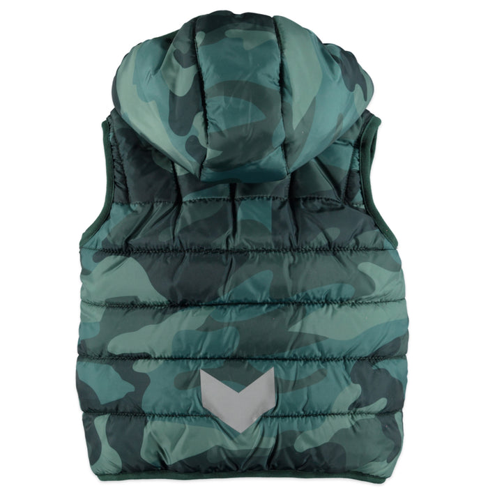 Boys Hooded Camouflage Vest