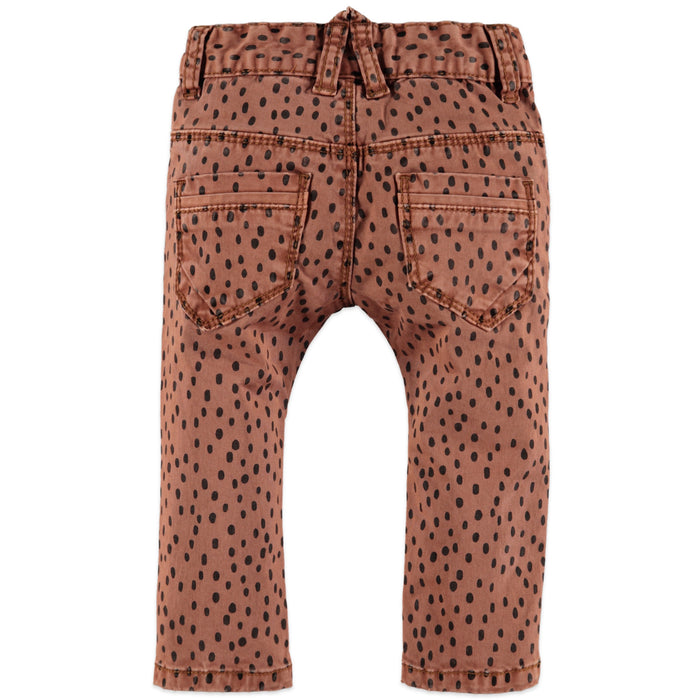 Girls Pants Caramel with Black Spots