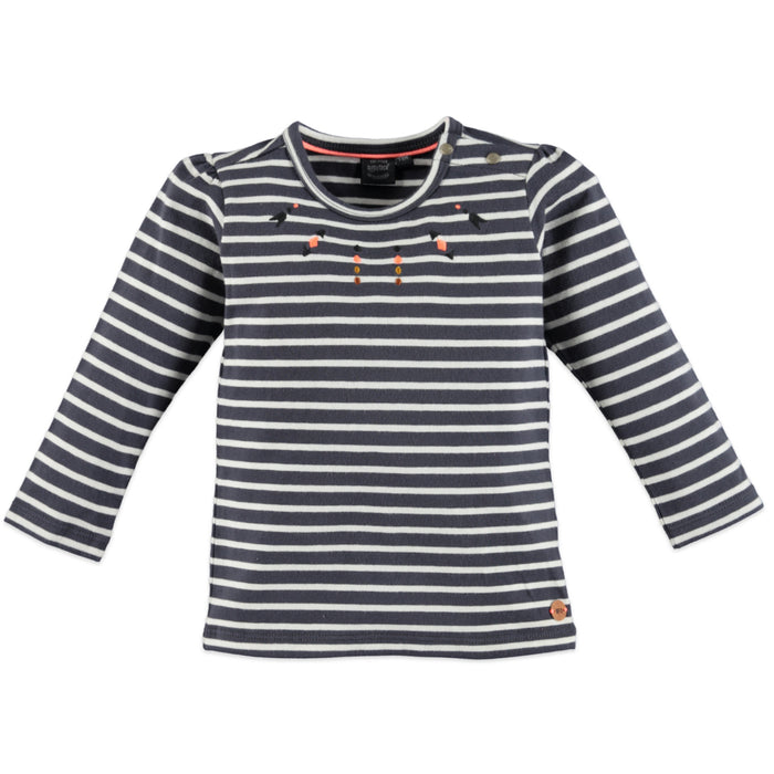 Girls Grey Dove Striped Shirt