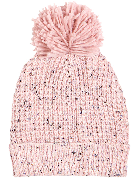 Speckled Pink Knit Hat