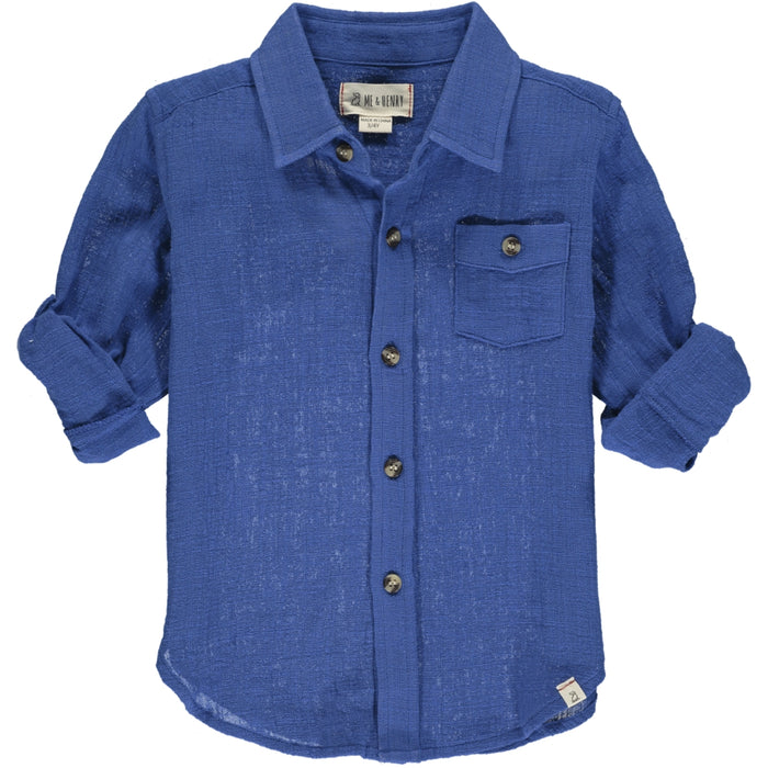 Merchant Long Sleeved Shirt | Blue