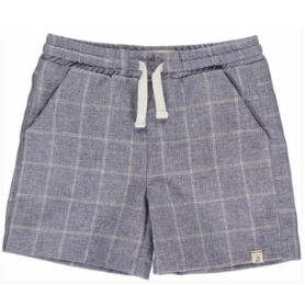 Navy Grid Swimshorts