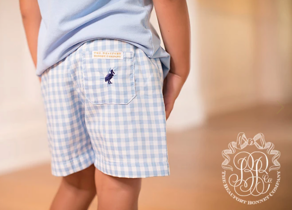 Shelton Shorts Blue Grand Gasparilla Gingham