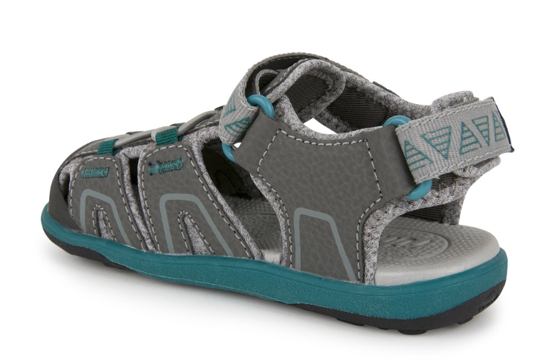 Lincoln IV Gray and Teal Sandal