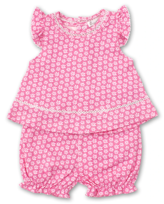 Fuchsia Floral Sunsuit Set