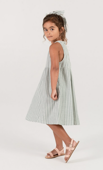 Rylee and Cru Gingham Zoe Maxi