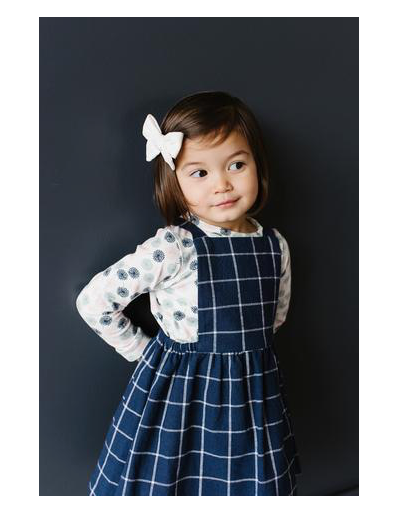 Pinafore Dress-Navy
