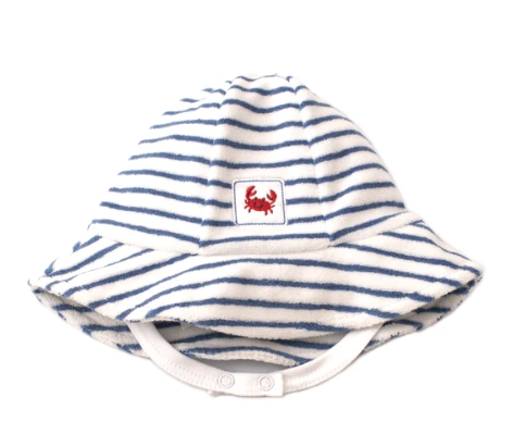 Whale of a Time Blue Blue Striped Sunhat
