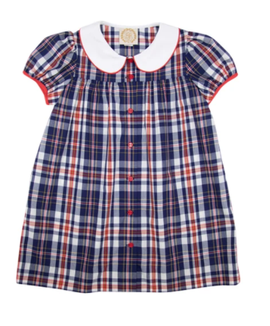Tabitha's Teacher's Pet Dress | Planters Inn Plaid with Richmond Red