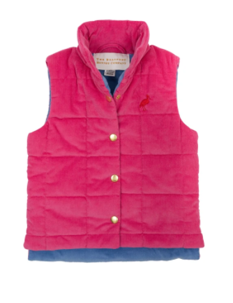 Holly Vaughn Vest (Corduroy) | Hamptons Hot Pink with Park City Periwinkle