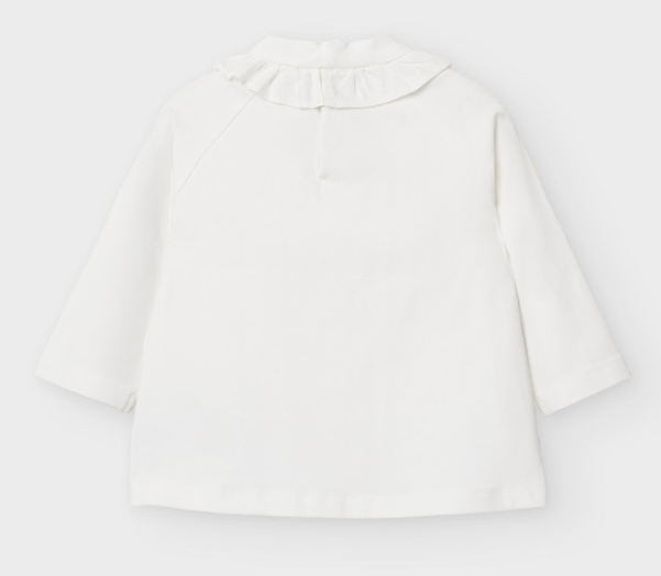 Off White Baby Girl High Neck Blouse (2051)