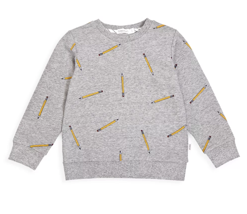 Grey Pencil Sweatshirt