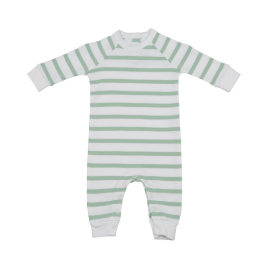 Seafoam and White Stripe All-In-One