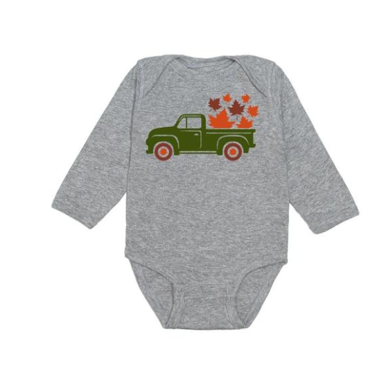 Fall Truck Long Sleeve Bodysuit