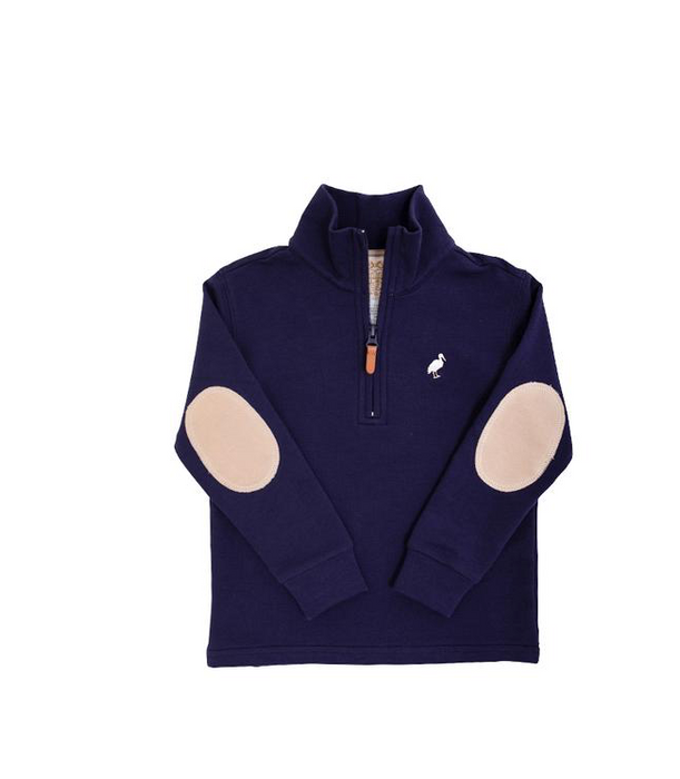 Haywood Half-Zip | Nantucket Navy with Keenland Khaki