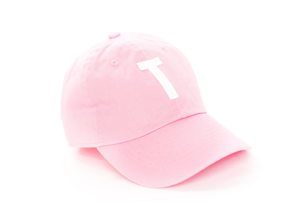 Light Pink Letter Baseball Hat (Toddler: 1-4 Years)