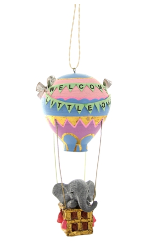 Welcome Little One Hot Air Balloon Ornament