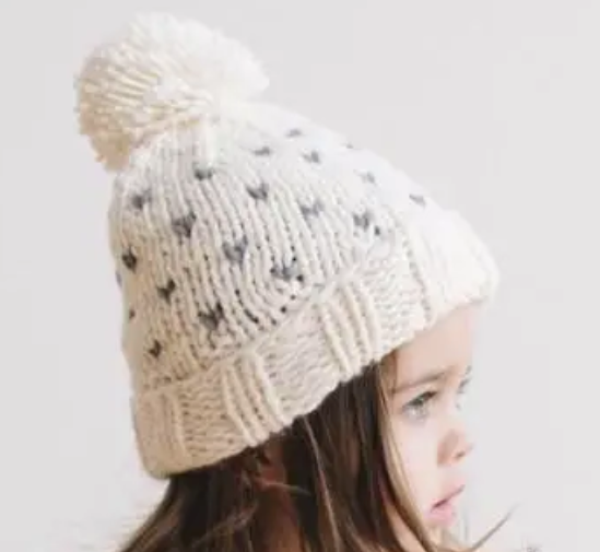 Sawyer Tiny Hearts Hat - Cream