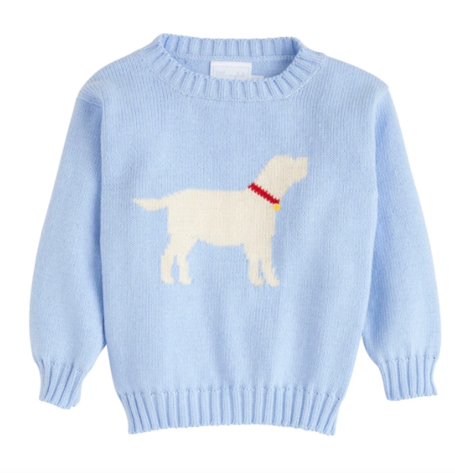 Lab Intarsia Sweater - Blue