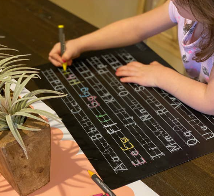 Chalkboard Letter Practice Placemat